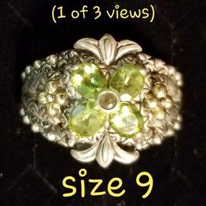 Jewelry - .925 Peridot Barbara Bixby ring